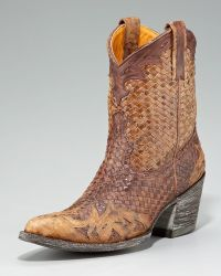 Old Gringo - Woven-Leather Short Boot - Lyst