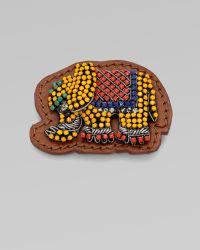 Vionnet - Embellished Elephant Leather Pin - Lyst