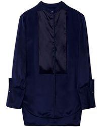 3.1 Phillip Lim Reverse Tuxedo Shirt blue - Lyst