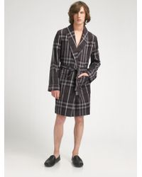 Burberry Brown Check Robe - Lyst
