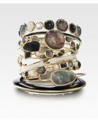 Ippolita Black Shell & 18k Gold Lollipop Bracelet - Lyst