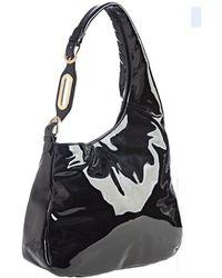 Jimmy Choo Black Patent Leather Thelma Hobo - Lyst