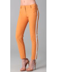 Just Cavalli Skinny Cropped Pants with Contrast Trim - Lyst