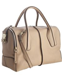 Tod's - Tobacco Leather D-styling Trunk Tote - Lyst