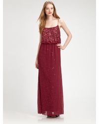 Aidan Mattox Sequined Gown - Lyst