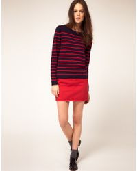 Boutique by Jaeger - Mini Chino Skirt - Lyst