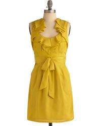 ModCloth Lemon Sour Dress - Lyst