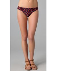 Shoshanna Anchors Away Shirred Bikini Bottoms - Lyst