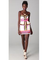 Sass & Bide - Pick N Mix Embroidered Strapless Dress - Lyst