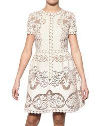 Valentino Cotton Guipure De Flandre Dress white - Lyst