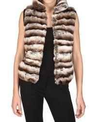 Vicedomini - Rabbit Fur Vest - Lyst