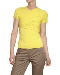 Carven Gathered Stretch Jersey Top - Lyst