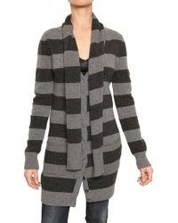 Dolce & Gabbana Striped Knit Wool Cardigan Sweater - Lyst