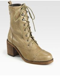 Dolce Vita Jasper Lace-up Leather Ankle Boots - Lyst