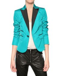 DSquared² Taffetà Nylon Jacket blue - Lyst