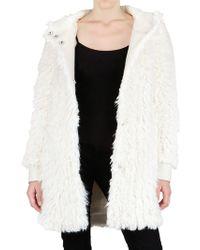 John Galliano Hooded Faux Fur Coat - Lyst