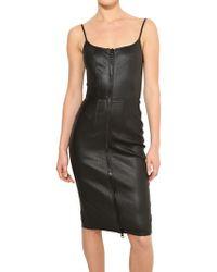 Givenchy Stretch Nappa Leather Dress - Lyst