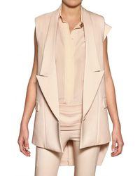 Givenchy Cotton Stretch Cady Vest beige - Lyst