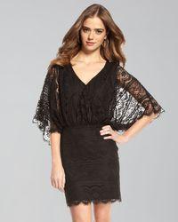 Beyond Vintage - Lace Dolman-sleeve Dress - Lyst