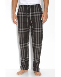 Burberry Gray Check Pant - Lyst