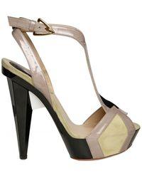 Etro 130mm Patent & Suede Polygonal Sandals - Lyst