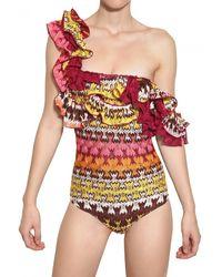 Missoni Ruffle Viscose Knit Bathing Suit - Lyst