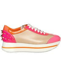 Ruthie Davis - 35mm Patent Multi Neon Spikes Sneakers - Lyst