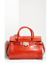 Jimmy Choo Rosalie Leather Satchel - Lyst