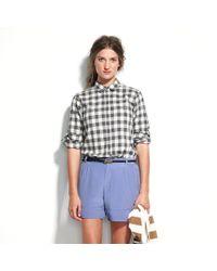 Madewell Silk Walkway Shorts - Lyst
