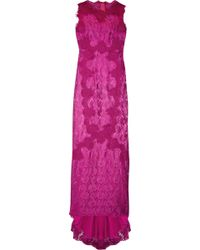 Dolce & Gabbana Open-back Lace Gown - Lyst