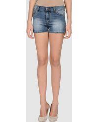 Cheap Monday Denim Shorts - Lyst