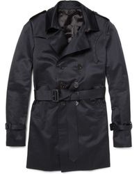 Burberry Prorsum Cotton-sateen Trench Coat - Lyst