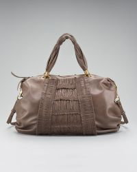 Elie Tahari - Bethany Ruched Leather Satchel - Lyst