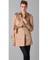 Juicy Couture - Solid Sateen Trench Coat - Lyst