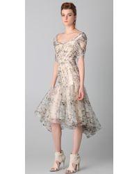 Zac Posen - Print Bustier Dress - Lyst