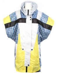 Alexander Wang Color-block Patchwork Windbreaker Jacket in Polyester - Lyst