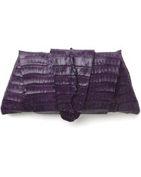 Juliette Jake - Exclusive Crocodile Wrap Clutch: Teal and Purple - Lyst