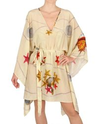 Magda Gomes Beachwear - Printed Chiffon Kaftan Cover Up Dress - Lyst