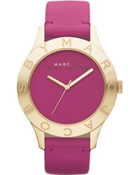 Marc By Marc Jacobs Blade Round Leather Strap Watch - Lyst