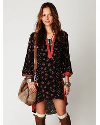 Free People Shapeless Printed Dress - Lyst