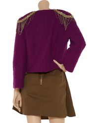 M Missoni Cropped Wool-blend Bouclé Jacket - Lyst