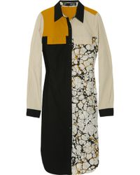 Proenza Schouler Block-print Shirt Dress - Lyst