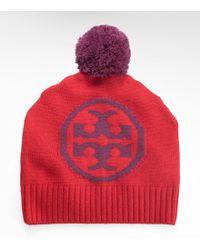 Tory Burch - Logo Knit Hat - Lyst