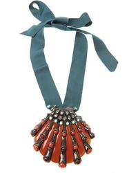 Lanvin Shell Necklace and Brooch blue - Lyst