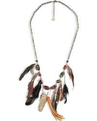 Antik Batik - Brown Stone and Leather Necklace - Lyst