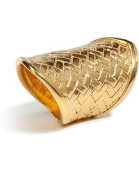 Bex Rox | Gold Woven Ring | Lyst