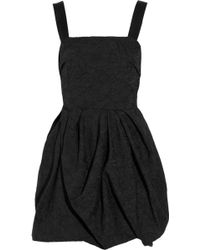 Lanvin Embroidered Bubble-skirt Crepe Dress - Lyst