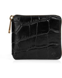 Mulberry Black Zip Around Wallet - Lyst