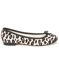 Repetto Bb Leopard Ballet Flat - Lyst