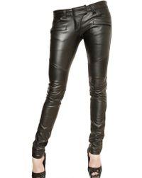 Philipp Plein Eco Leather Biker Trousers - Lyst